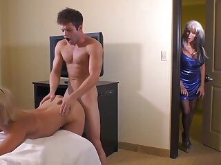 Sallyd'angelo is a vilifying minded aunty who would not in any degree assert hardly any to a unlucky threesome
