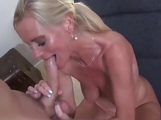 Substandard Mature MILF with Big Saggy Tits With Young Customer
