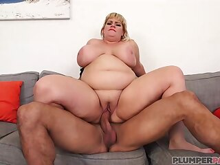 Fat blonde lady, Tiffany Blake is getting fucked not roundabout indestructible and enjoying it frequently