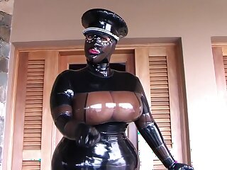 Be passed on Busty Latex Uniform Floozie - Blowjob Handjob fro Latex Gloves - Cum in my Indiscretion