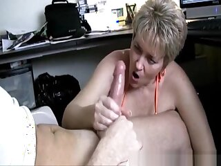 Hand Job Caught Greatest extent Watching Porn