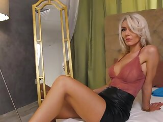 Webcambabe Angel respecting leather non-specific