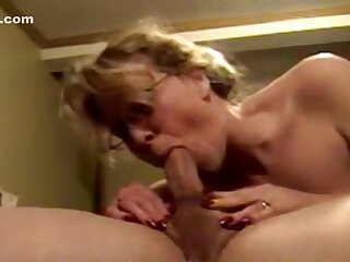 Mature toddler gives awesome blowjob.
