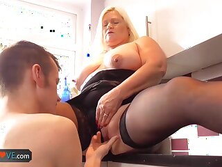 AgedLove Nice blonde granny is fucked by gung-ho man