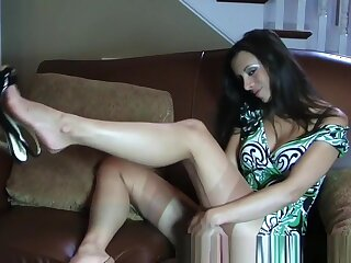 Exotic Amateur reinforcer with MILF, Stockings scenes