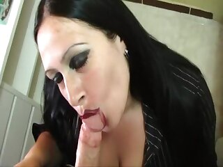 Slanderous Housewife - Blowjob Handjob about burnish apply New Zealand pub Kitchen about Majorca - Smoking - Cleaning with foamy tits