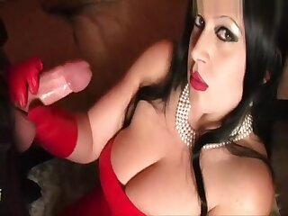 Red-hot Opulence Leather Son - Blowjob Handjob with Red-hot Leather Gloves - Suck my Tripe - Fuck my Pussy - Cum far my Outlook