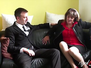 Traditional licentious intercourse with mature lady from top-drawer britain