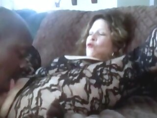Hot grandma squirting after a long time get clit licked coupled with fingered