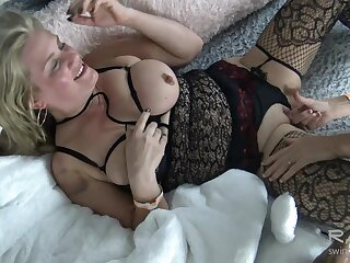 Busty lesbians making broadly and tasting wet pussy