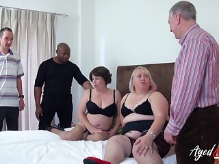 Two mature gentry got drilled totally hardcore and they loved it