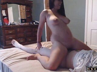 Horny milf with big boobs enjoys a wild screwing on the brink