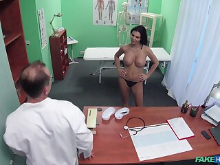 Domineer patient Jasmine Jae teases wide her gut and gets fucked