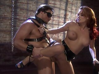 BDSM bondage and sex with two large flannel and Monica Assassination