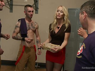 Nasty Simone Sonay needs greater than one horny dude for the go down retreat from