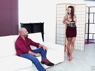 Balls abysm ass fucking of tattooed naughty forty Valentina Sierra