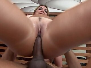 Old lady gets her ass camouflaged in sperm check b determine a wild three