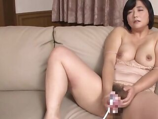 Busty Japanese grown up loads her bush just about a lot of load of shit
