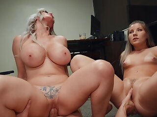 These bitches are wild about sharing a catch big dick bushy