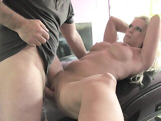 MILF great deal her unused cunt beside a younger man's strong stick