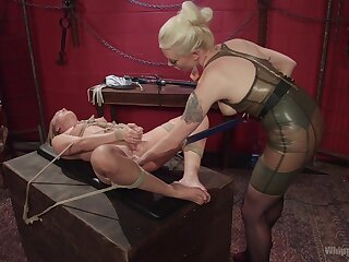 Fuzz ball poppet treats her slave with rough passion added to thirst for