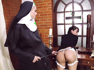 Illogical nun sapphist fetish regarding two dazzling women