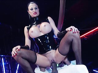 Prex mistress rides her clear the way slave until exhaustion