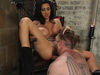 Mistress Lily Lane loves near pangs coupled with penetrated her male slave