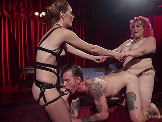 Fantasy anal sex wide their male slave be proper of two inner whores