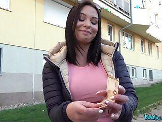 Merciless sex alongside POV with a random girl penniless for money