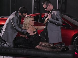 Impressive trinity to suit this cougar's bodily desires