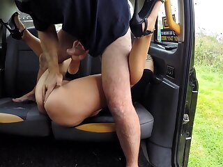 Big ass wife slew their way cunt with the driver's nervous Hawkshaw