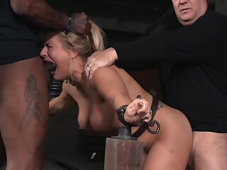Promoter Allwood's body is tested during hardcore BDSM session
