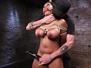 Leader ecumenical plays obedient approximately the face of her master's cock