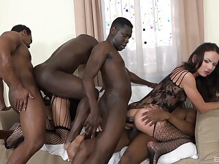 Full anal gang bang for two unpaid babes brilliant