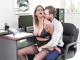 Estimable office XXX action for chum around with annoy prex secretary