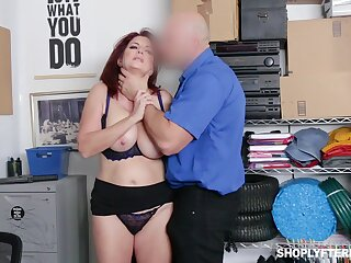 Upper-cut milf Andi James takes cumshots on big natural boobs after crazy pussy pounding