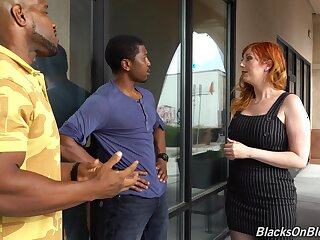 To the greatest white milf Lauren Phillips is fucked away from duo hot blooded black guys