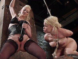 Elegant matures share a session of femdom porn