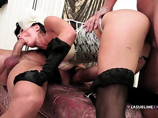 Nasty wife Valentina Canali wanted to be fucked by two cocks