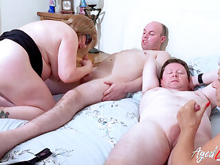 AgedLovE Two Busty British Matures Lose one's heart to Two Locate