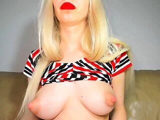 USA sexiest blonde pregnant big boobs beauty webcam show