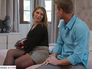 Horny cougar Kayley Gunner moans not later than passionate fucking