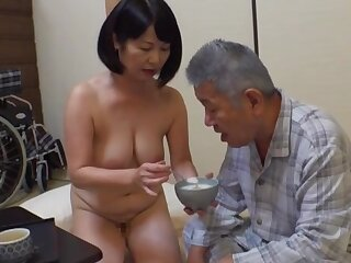 Creampie with an old man for this fine Japanese grown-up