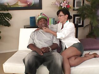 Hardcore fucking between a black man with an increment of MILF Lisa Anne Corpora
